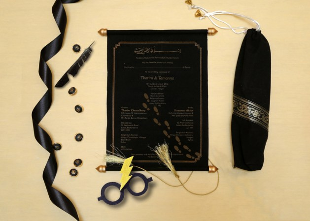 Scroll Wedding Invitations - Harry Potter Themed Wedding