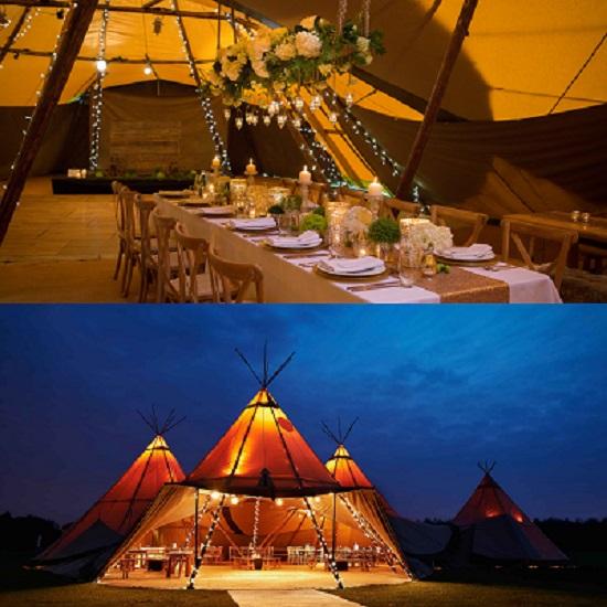 Teepee Wedding tent For Bohemian style Wedding - A2z wedding Cards