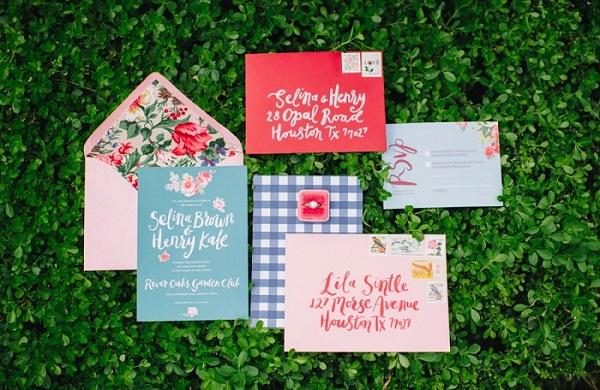 Wedding Invitations In Gingham Style- A2zWeddingCards