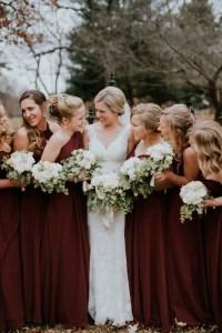 Stylish Yet Cozy Bridesmaid Dressing Ideas For Winter Wedding
