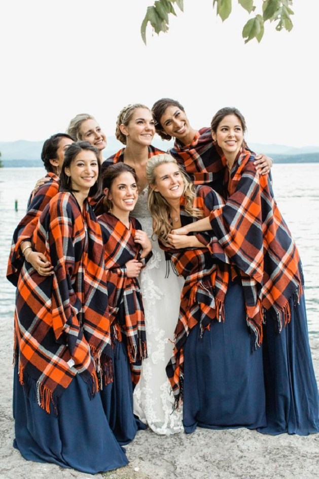 plaid blanket scarves which would look chic