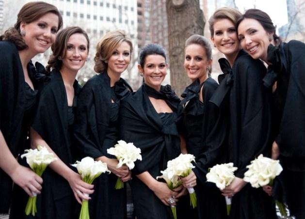 3. bridesmaid Black Dress for Winter Wedding