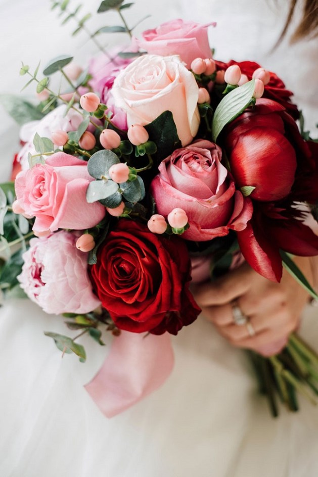 pink or red bouquet
