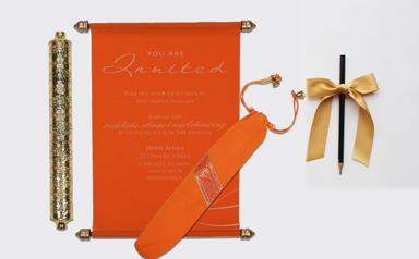 Scroll Wedding Invitations-A2zWeddingCards