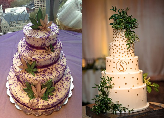 Cannabis wedding cake