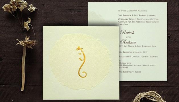 Ganesha Hindu wedding Invitations