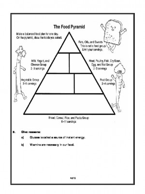 A2Zworksheets: Worksheets of Food-Basic Necessities-Science
