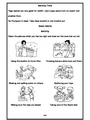 A2Zworksheets:Worksheet of Good Habits-Good Habits-Habits