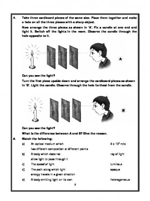 A2Zworksheets: Worksheets of Light,Shadows And Reflection