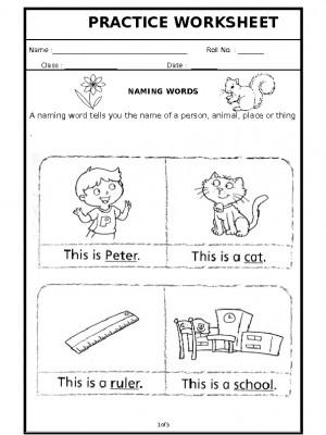 A2Zworksheets: Worksheets of Naming Words-Grammar-English
