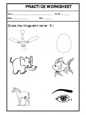 A2Zworksheets: Worksheets of Recognition-Alphabets-English