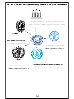 A2Zworksheets: Worksheets of The United Nations-The World