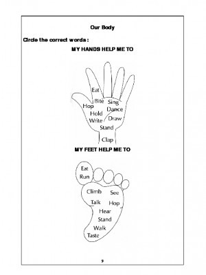 A2Zworksheets: Worksheets of Our Body-Humans-Science