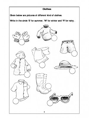 A2zworksheets Worksheets Of Clothes Basic Necessities Science