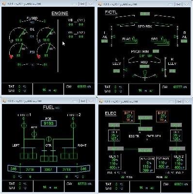 ECAM System Display