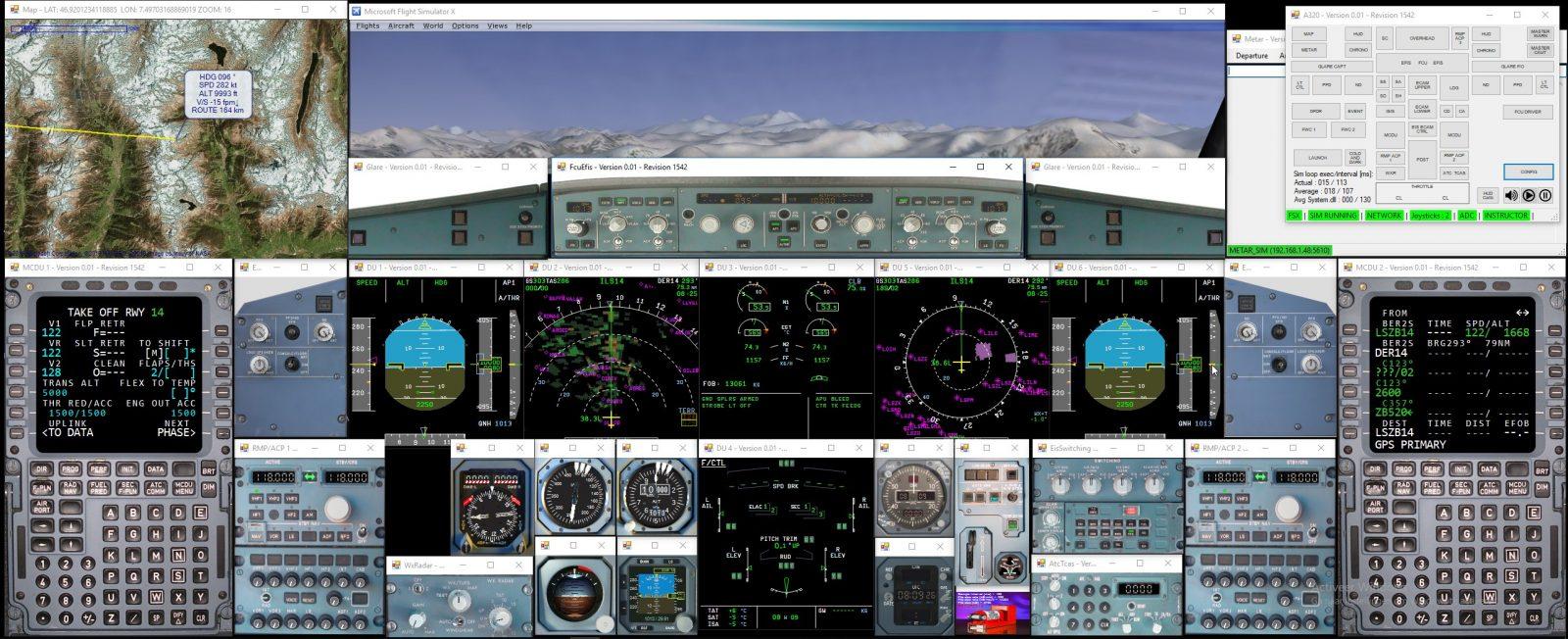 Flight above the Alps
