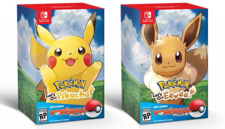 Switch Pokemon Let Go PokeBall Plus Pikachu Eevee pkg