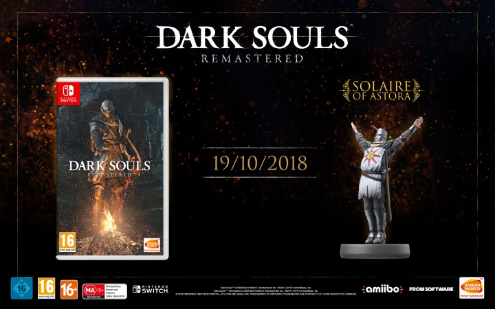 DARK SOULS: REMASTERED and amiibo® figure Solaire of Astora
