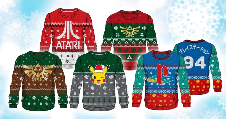 Merchoid officially licensed gaming Christmas Sweaters 2018 Holiday season