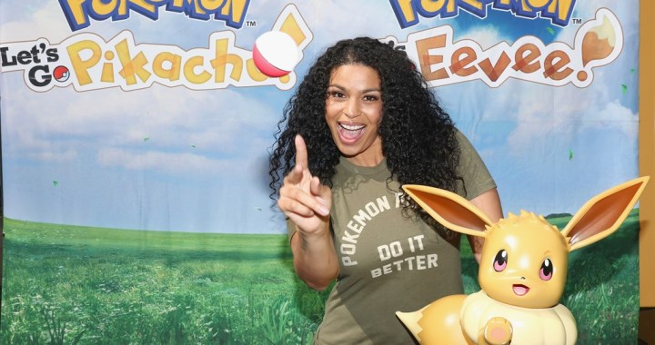 Pokémon fan Jordin Sparks celebrated the Pokémon: Let's Go, Pikachu! and Pokémon: Let's Go, Eevee!