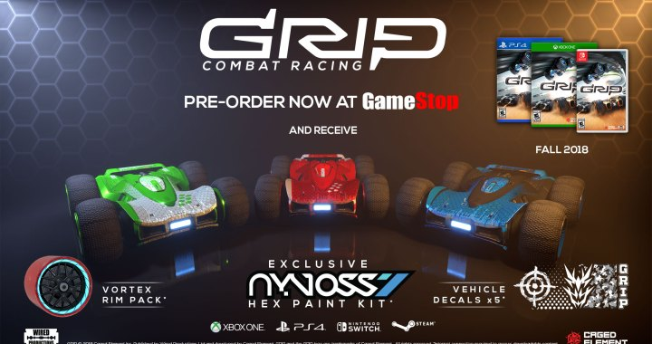 GRIP: Combat Racing Limited Collector's Edition - pre-order bonus at GameStop