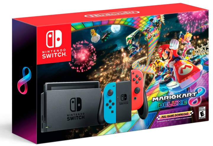 Nintendo Switch system with the hit Mario Kart 8 Deluxe game Bundle