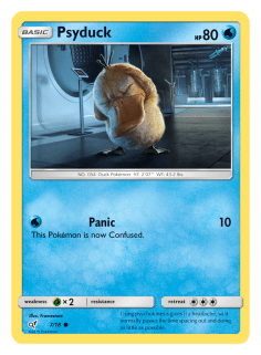 Pokémon Trading Card (TCG) game featuring Psyduck