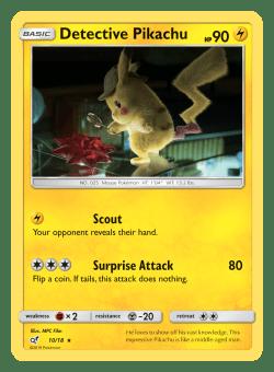 Pokemon TCG Detective Pikachu Detective Pikachu Card