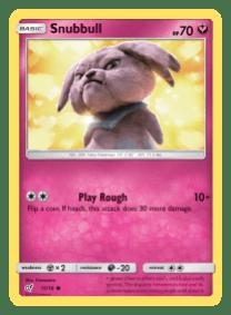 Pokemon TCG Detective Pikachu Snubbull Card