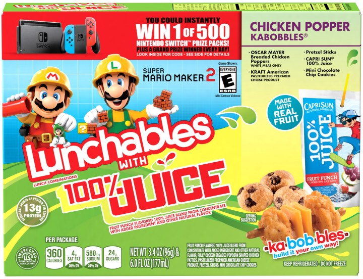 Nintendo Powers Up LUNCHABLES Lunch Combinations