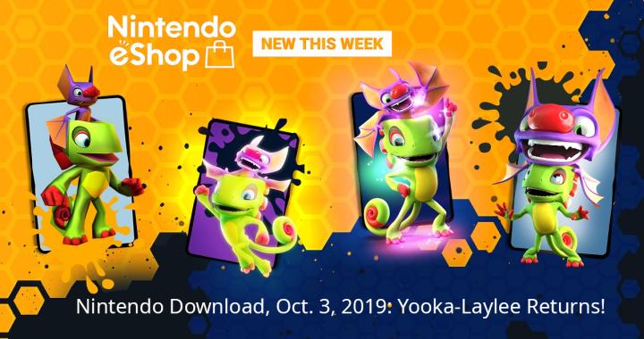 Nintendo Download, Oct. 3, 2019: Yooka-Laylee Returns!