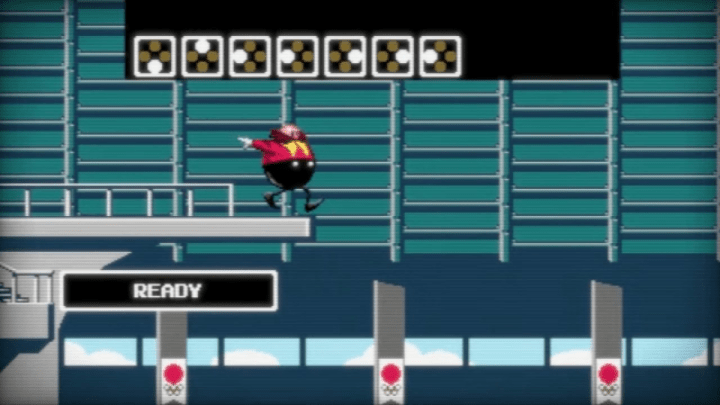 Dr. Eggman jumps off the high dive