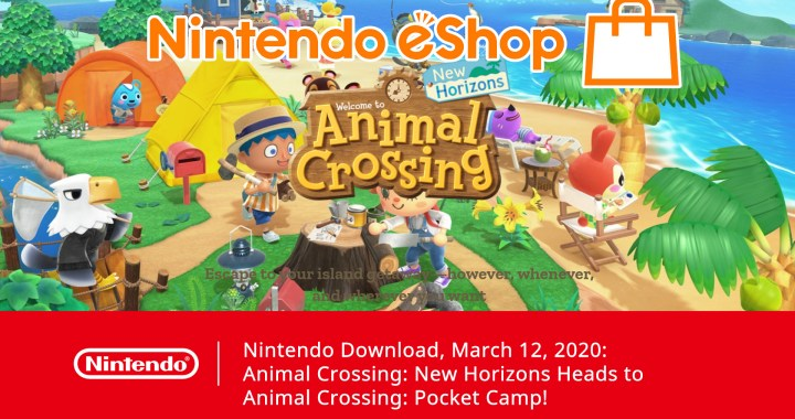 Nintendo Download, March 12, 2020: Animal Crossing: New Horizons Heads to Animal Crossing: Pocket Camp!