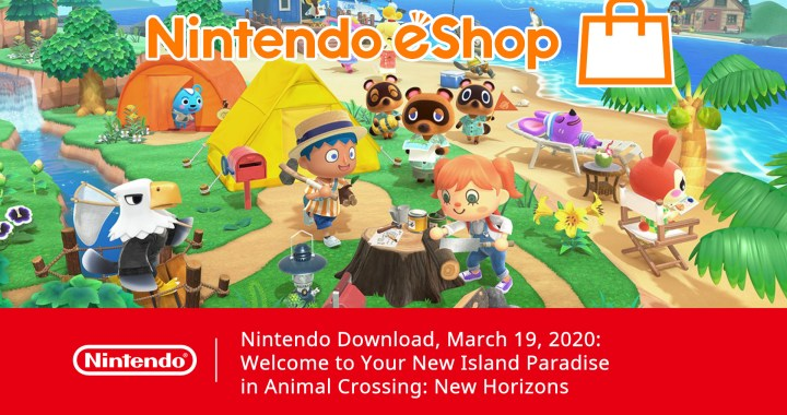 Nintendo Download, March 19, 2020: Welcome to Your New Island Paradise in Animal Crossing: New Horizons