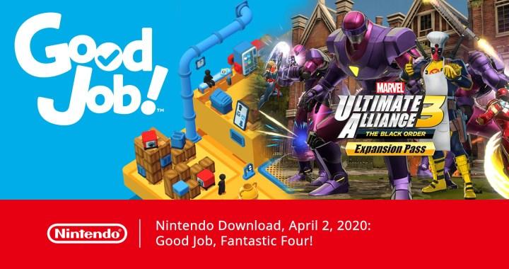 Nintendo Download, April 2, 2020: Good Job, Fantastic Four!