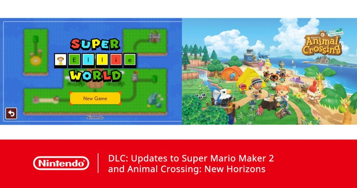 Updates to Super Mario Maker 2 and Animal Crossing: New Horizons