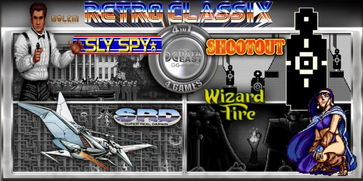 Retro Classix 4in1 Pack: Sly Spy, Shootout, Wizard Fire & Super Real Darwin