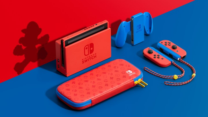 Nintendo Switch – Mario Red & Blue Edition system