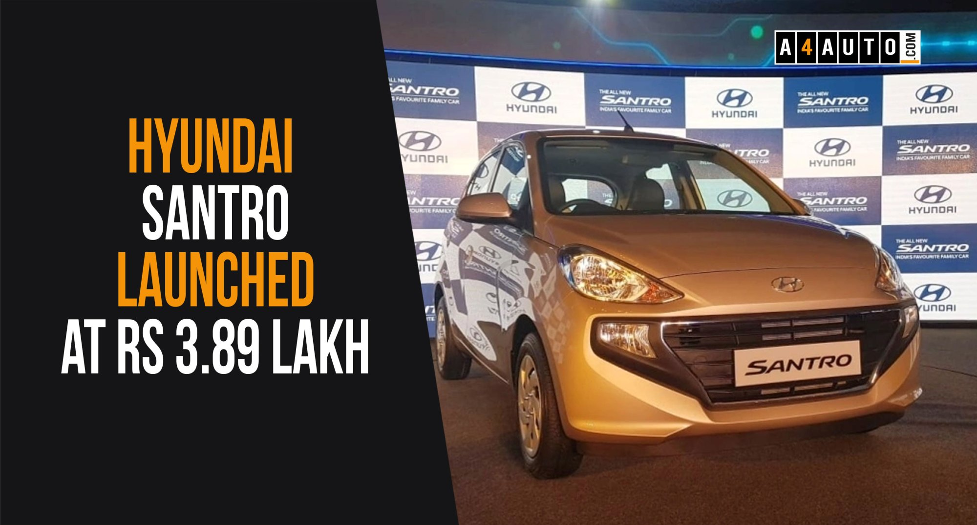 hight resolution of hyundai santro launched at rs 3 89 lakh