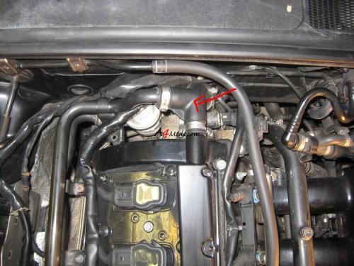 small resolution of audi a4 rear coolant flange replacement