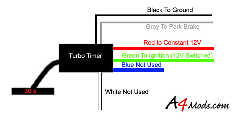 Apexi Turbo Timer Wiring