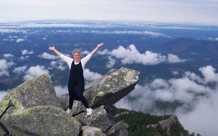 pamela at the mt. pilchuck summit