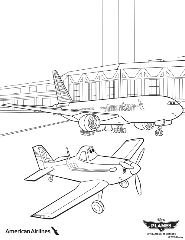 Planes Coloring Pages