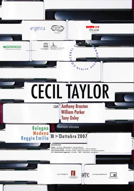 Cecil Taylor cartolina - Concerti Contemporanei 4