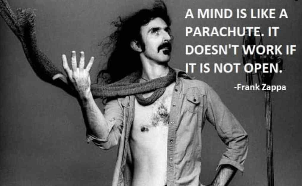 Frank Zappa - the mind is like a parachute