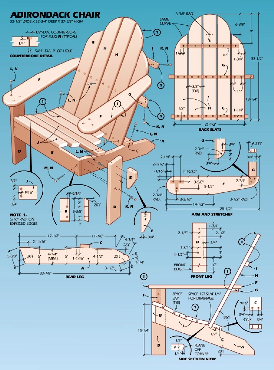 easy adirondack chair plan