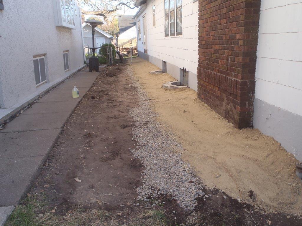 french drain installation exterior