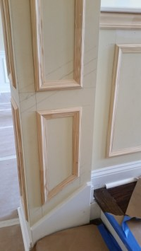 Wainscoting (Faux) Picture Frames and Chair Rail ...