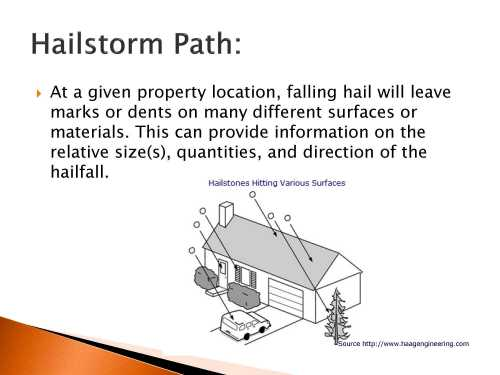 small resolution of examples of hail damage to asphalt shingles