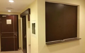 kitchen wall partition with carpentry work